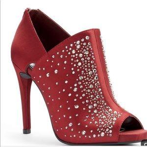 JLo Rhinestone PeepToe Heels-Size 8 NWOT
